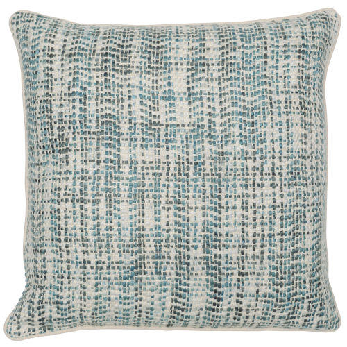 Carmen Green and Natural 22-Inch Throw Pillow