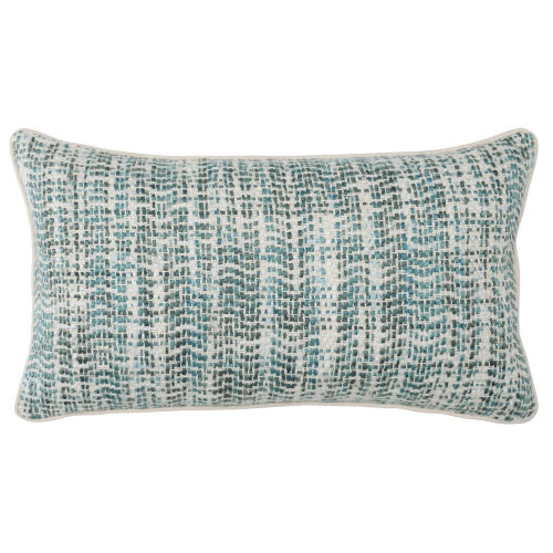 Carmen 14-Inch Green and Natural Throw Pillow