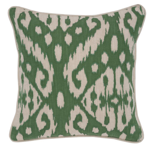 Amy Green and Ivory Throw Pillow
