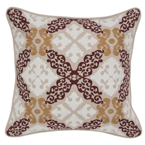 Lane Natural and Red Throw Pillow