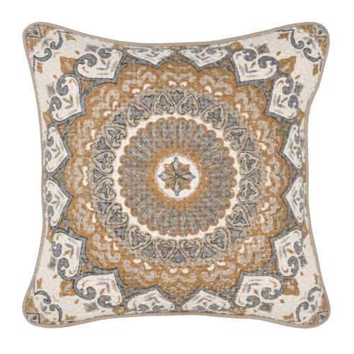 Rory Natural and Yellow Throw Pillow