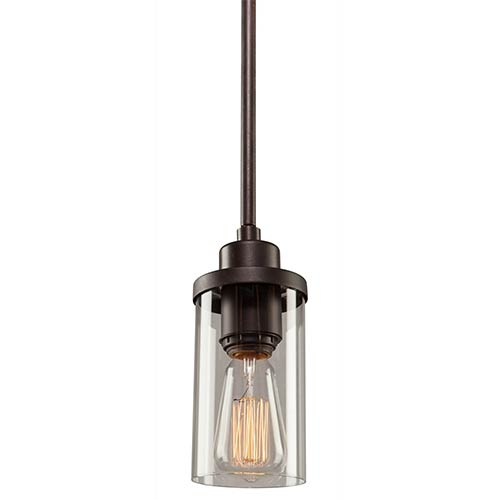 e07685da2a5 Melno Park Dark Chocolate One-Light 3.5-Inch Wide Mini Pendant