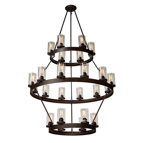 Melno Park Dark Chocolate 24-Light 42-Inch Wide Chandelier