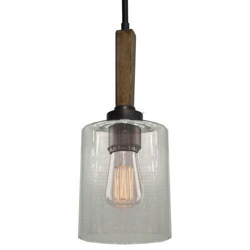 Legno Rustico Brunito One-Light Mini Pendant