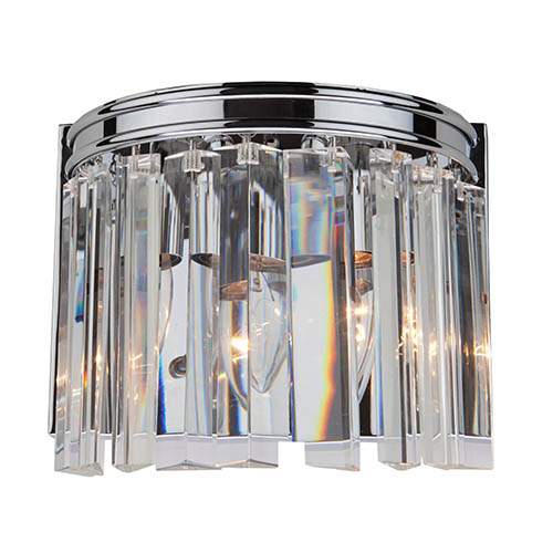 Artcraft El Dorado Chrome Two-Light 8.75-Inch Wide Wall Sconce