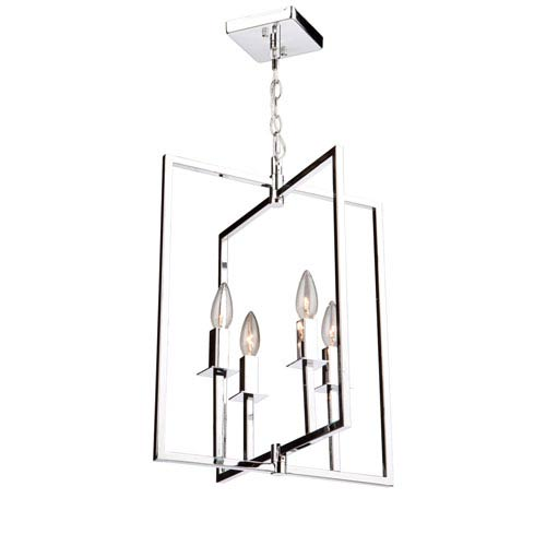 Allston Chrome 20-Inch Four-Light Pendant