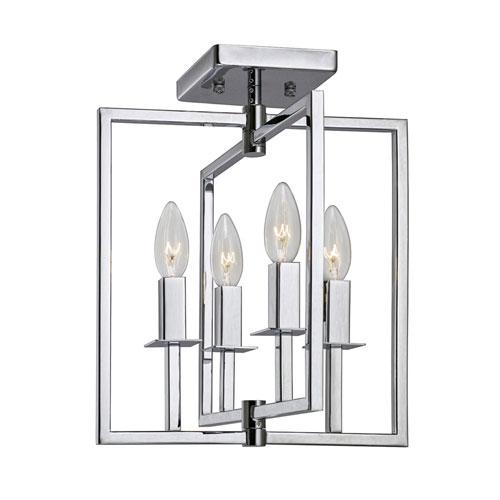 Allston Chrome 12-Inch Four-Light Flush Mount