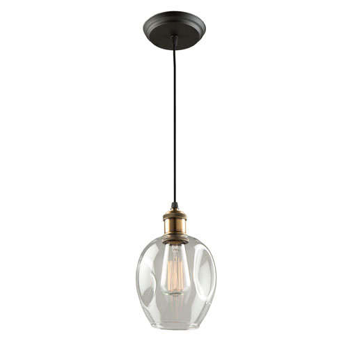 Clearwater Vintage Brass 6-Inch One-Light Mini Pendant