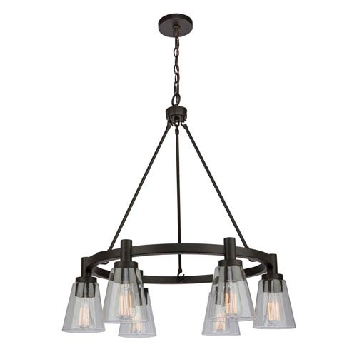 Clarence Oil Rubbed Bronze 29-Inch Six-Light Chandelier