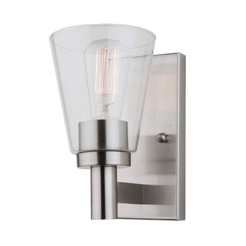 Clarence Brushed Nickel One-Light Wall Sconce