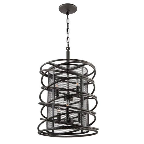 Rebar Studio Dark Java Brown Six-Light Chandelier