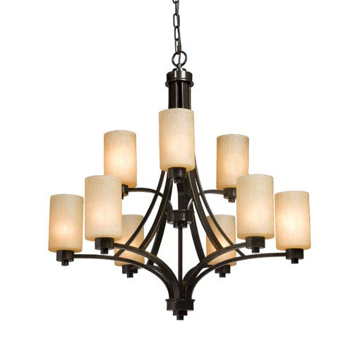 Artcraft Parkdale Oil Rubbed Bronze Nine-Light Chandelier