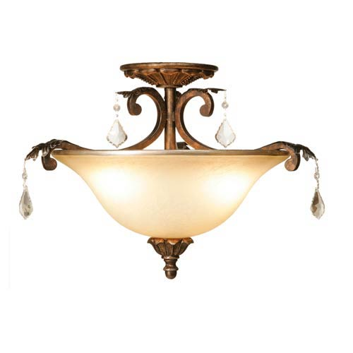 Florence Three-Light Semi Flush