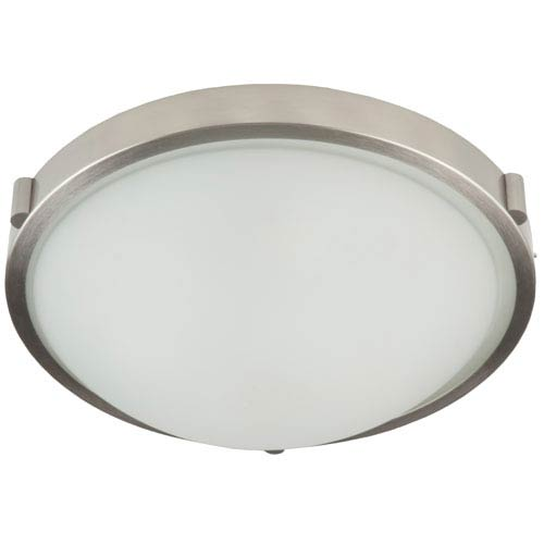 Artcraft Boise Brushed Nickel One Light Flush Mount