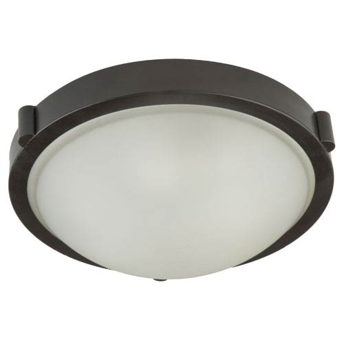 Artcraft Boise Brushed Nickel Frosted Glass 5.5-Inch One Light Flush Mount