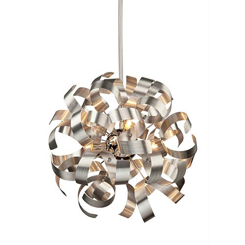 Bel Air Chrome Five-Light 18-Inch Wide Globe Pendant