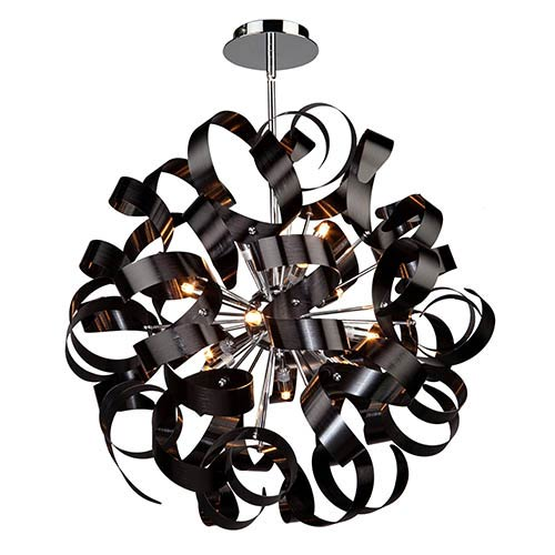 Artcraft Bel Air Black 12-Light 24-Inch Wide Globe Pendant