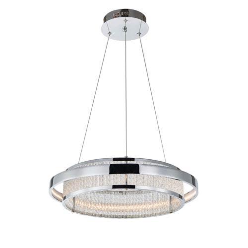 Gemma Chrome One-Light LED Pendant
