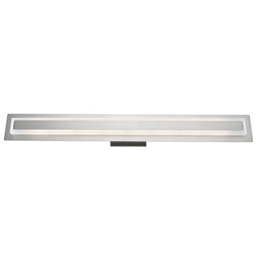 Echo Park Brushed Nickel LED 31-Inch One-Light Bathroom Vanity