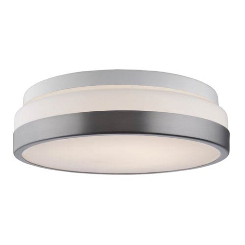 Brushed Nickel 11-Inch One-Light LED Flush Mount