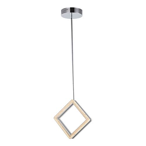 Park Plaza 13-Inch Brushed Nickel and Chrome One-Light Pendant