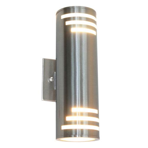 Artcraft nuevo stainless steel two light outdoor wall light ac8005ss artcraft nuevo stainless steel two light outdoor wall light aloadofball