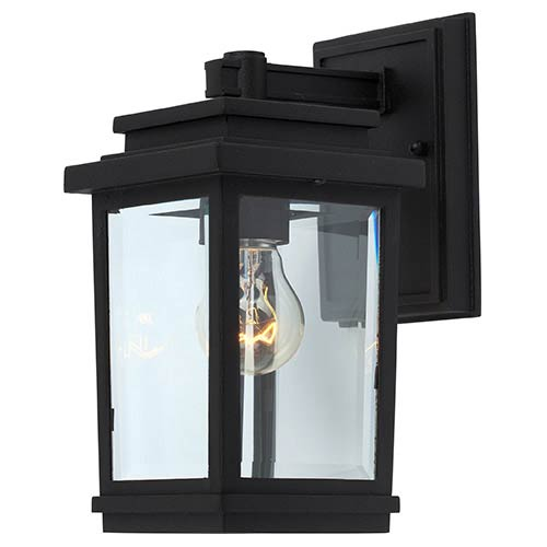 Artcraft Fremont Black One-Light 5-Inch Wide Outdoor Wall Sconce with Clear Four Side Glass