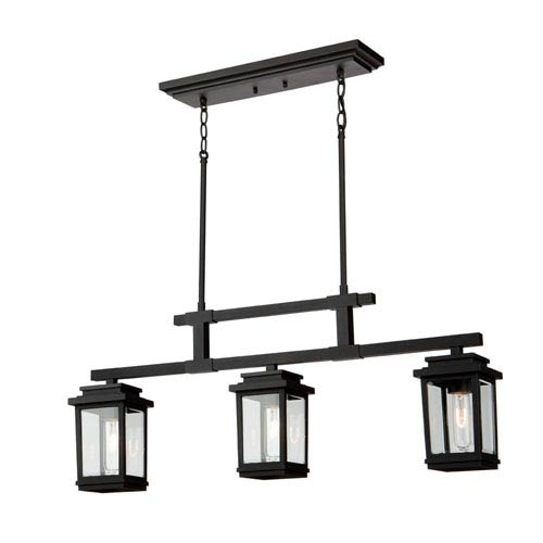 Freemont Bronze Three-Light Outdoor Pendant
