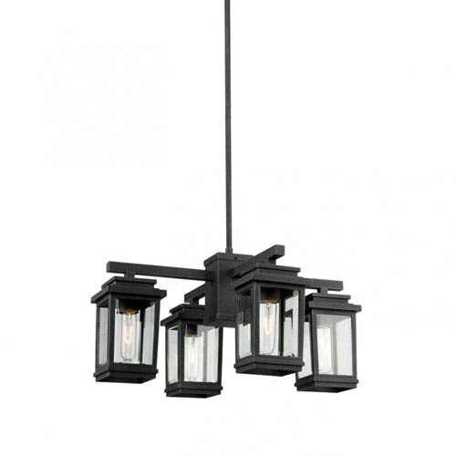 Freemont Bronze Four-Light Outdoor Chandelier