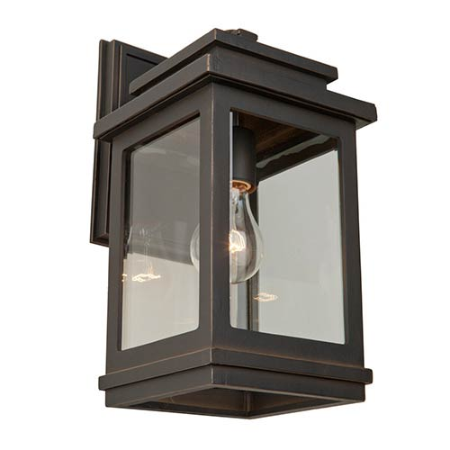 Fremont Oil Rubbed Bronze One-Light 9-Inch Wide Outdoor Wall Sconce