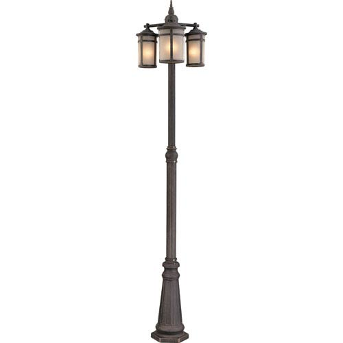 St. Moritz Bronze Three-Light Outdoor Post Mount