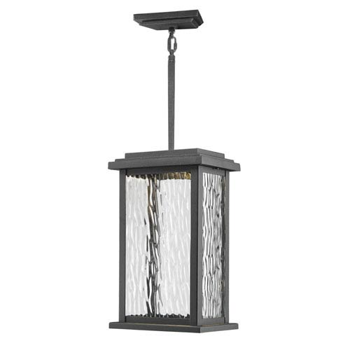Sussex Black LED One-Light Outdoor Pendant