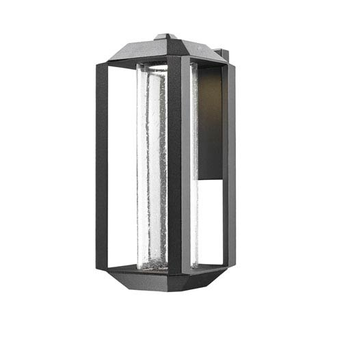 Wexford Black LED Seven-Inch One-Light Outdoor Wall Sconce