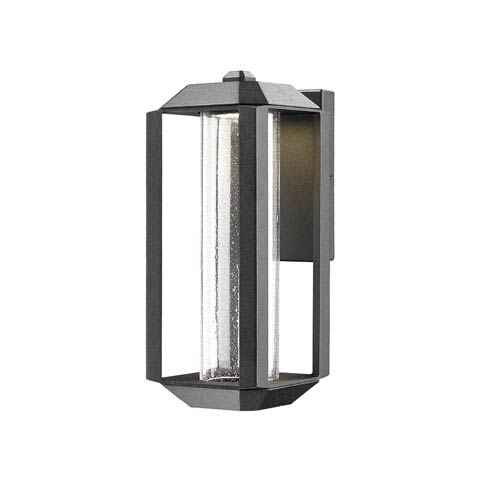 Wexford Black LED Five-Inch One-Light Outdoor Wall Sconce