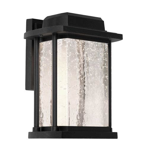 Artcraft Addison Black 8-Inch One-Light LED Outdoor Wall Sconce