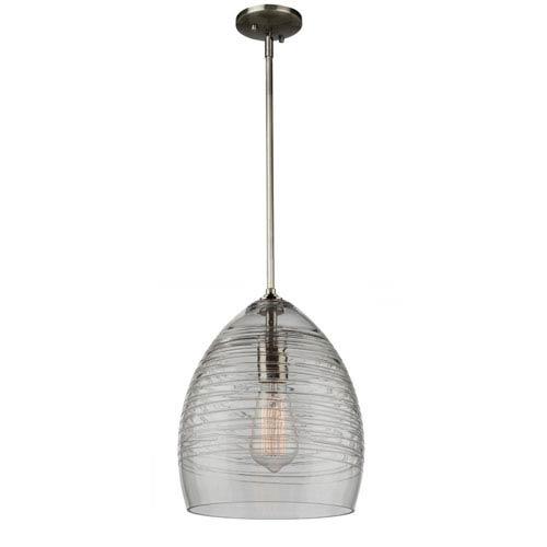 Artisan Brushed Nickel 12-Inch One-Light Mini Pendant