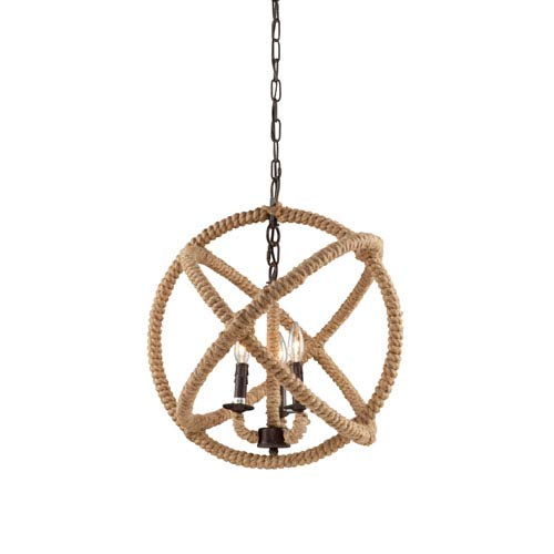 Artcraft Danbury Bronze Four Light Chandelier