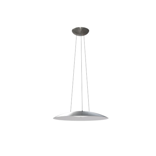 Aero Satin Nickel Integrated LED Pendant with White Interior