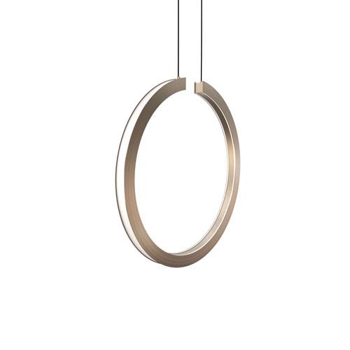 Cirq Satin Nickel 18-Inch LED Pendant