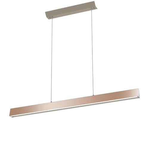Float Satin Nickel LED Linear Pendant