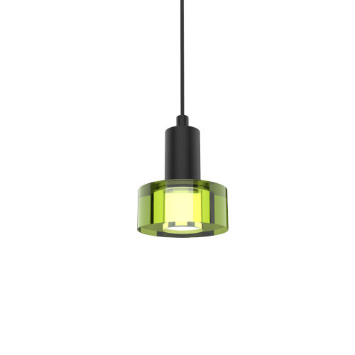 Matte Black abd Gel Green Integrated LED Mini Pendant