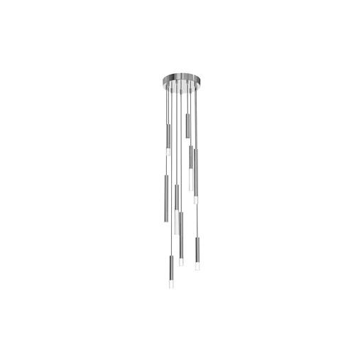 Steelos Polished Chrome LED Nine-Light Pendant