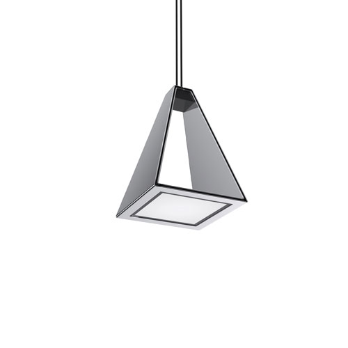 Tria Polished Chrome LED Mini Pendant
