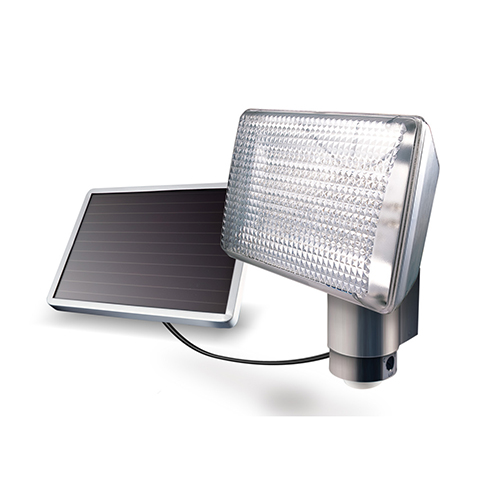 Silver Solar-Powered 80 LED Security Light