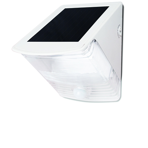 White Motion-Activated Solar Wedge LED Light