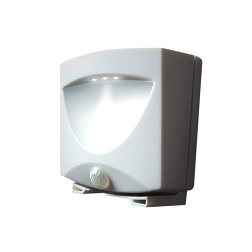 White Battery Powered Motion-Activated Outdoor Night Light