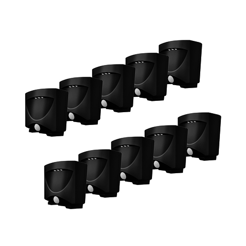 Bronze Battery Powered Motion-Activated Outdoor Night-Light- 10 Pack
