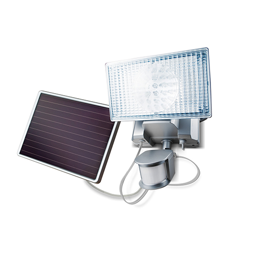 Silver Solar Motion-Activated LED Security Floodlight
