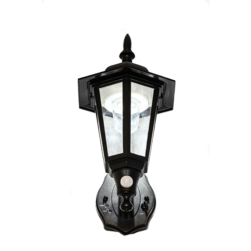Black Battery Powered Motion-Activated LED Wall Sconce- Two Pack