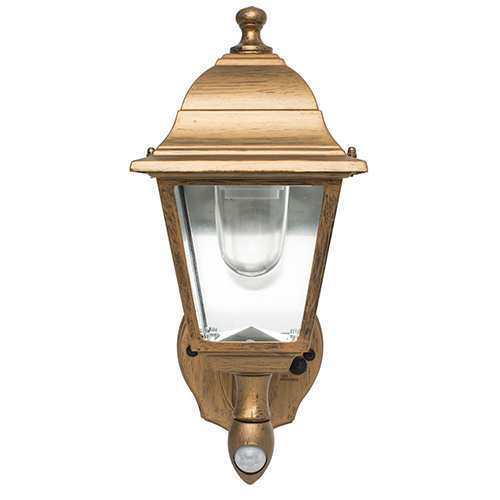 Golden Copper Battery Powered Motion-Activated LED Wall Sconce